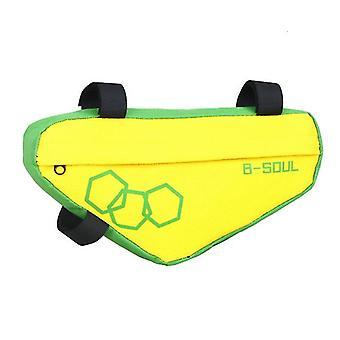 Mountainbike Dreieck Tasche, Fahrrad Frontbalken Paket (Grün)