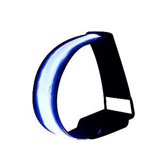 4szt Led Akumulator do biegania Armaband, Świecący Pasek Light Up (Niebieski)