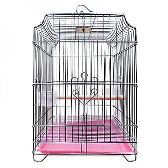 Parrot Cage Thick Stainless Steel Plated Ornamental Bird Cage