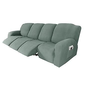 Recliner sofa slipcover couch covers for 4 cushion couch, sofa cover furniture protector with elasticity, sage
