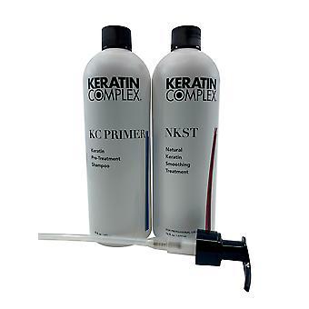 Keratin Kompleks Pre Treatment Shampoo 16 OZ & Keratin Glatting Behandling 16 OZ