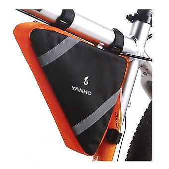 Multifuction الدراجات أكياس الدراجات الدراجة الإطار الجبهة أنبوب الهاتف المحمول حقيبة أكياس السرج لملحقات MTB الدراجة الجبلية (البرتقالي)