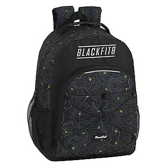 Skoleveske BlackFit8 Topografi Svart Grønn