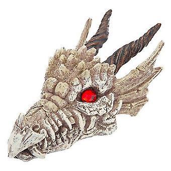 """Penn Plax Gazer Dragon Skull Aquarium Ornament - 3""""L x 5.75""""W x 3""""H"""