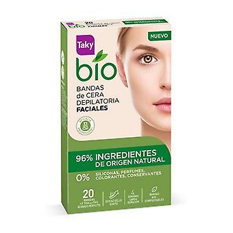 Facial Hair Removal Strips Bio Natural Taky (20 uds)