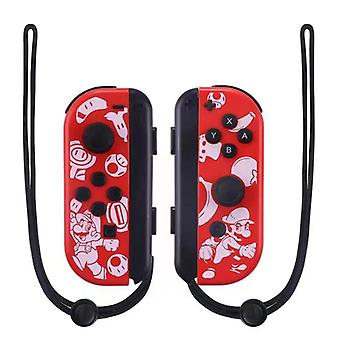 Portable Wireless Bluetooth Joy-con L/r Controller Compatible With Nintendo Switch-mario Red