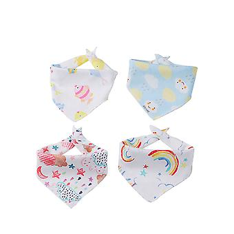 4 Packs Baby Bandana Drool Bibs Cotton Triangle