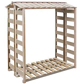 Chunhelife Brennholz Lagerschuppen 150x90x176 Cm imprägniertes Pinienholz