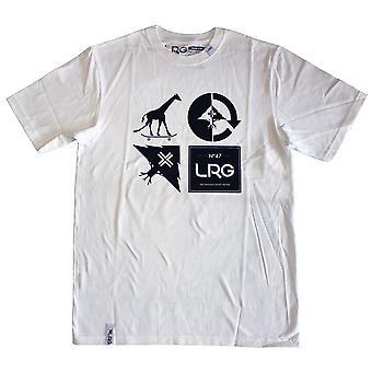 LRG RC logotipo Mash-Up White t-shirt