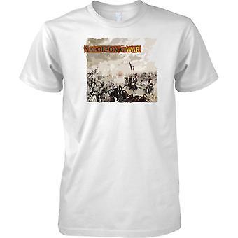 Napoleonin sodan - Waterloon taistelu - miesten T-paita