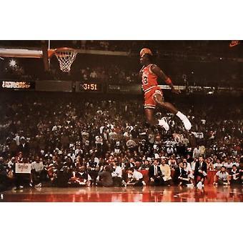 Майкл Джордан Slam Dunk Плакат Плакат Печать