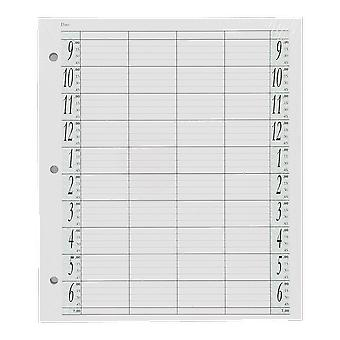 Agenda Salon Concepts Loose Leaf Refill 4 Coloumn 100 Sheets