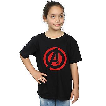 Marvel meisjes Avenegers assembleren Solid een Logo T-Shirt