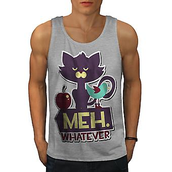 Meh Whatever Animal Men GreyTank Top | Wellcoda