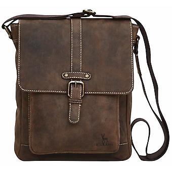 "Luxury Genuine Mud Wax Leather Ipad 11"" Tablet Case Mini Messenger Cross Body"