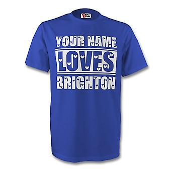 Your Name Loves Brighton T-shirt (blue) - Kids