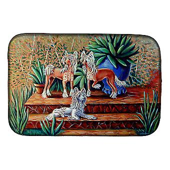 Carolines Treasures  7505DDM Chinese Crested  Dish Drying Mat