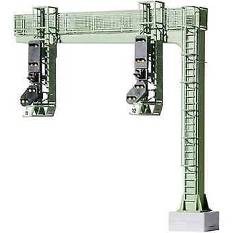 Viessmann 4750 H0 estrutura do sinal 2-Track montado