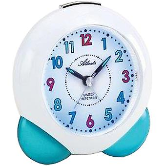 Atlanta 1733/5 alarm clock for children quartz analog kids alarm clock blue quietly