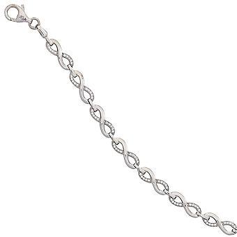 plata pulsera infinito plata Circonita 19 cm Pulsera plata 925