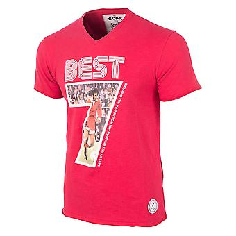 George Best Miss World v-Neck T-Shirt (rot)
