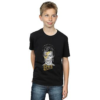 David Bowie Boys Aladdin Sane Gold Bolt T-Shirt