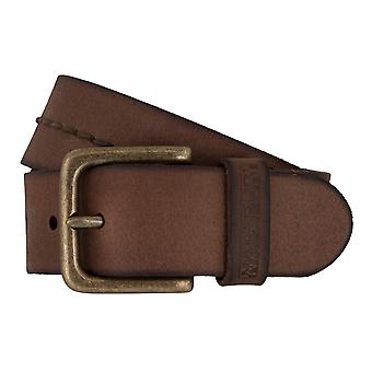 Napapijri PALAKA belts men's belts leather jeans belt Brown 7405