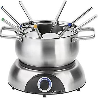 Clatronic FD3516 Fondue 1400 W with manual temperature settings Stainless steel, Black