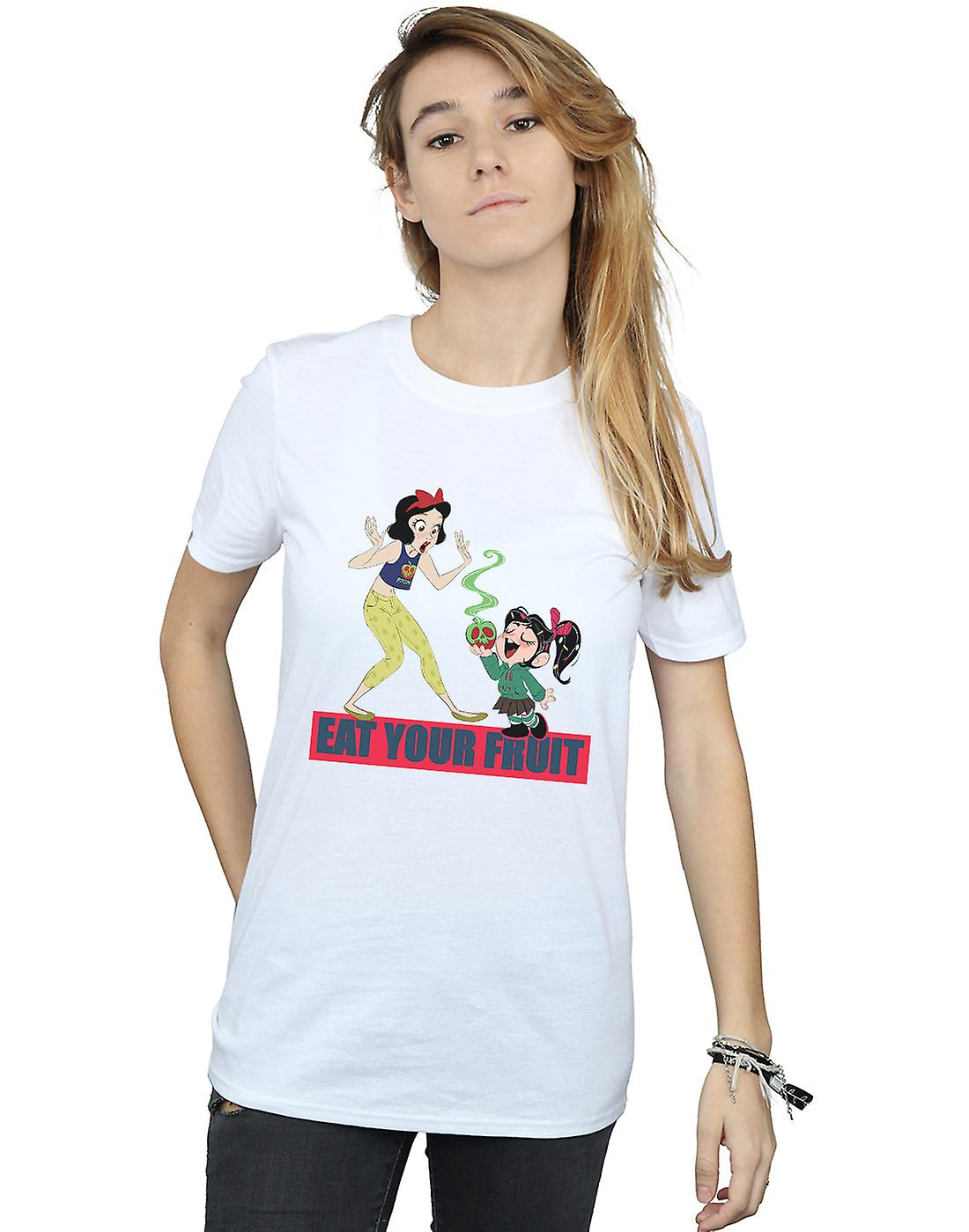 Disney Women's Wreck It Ralph Eat Your Fruit Boyfriend Fit T-Shirt