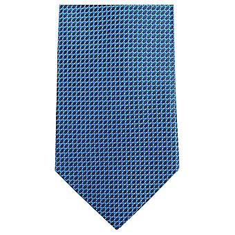 Gravatas de Knightsbridge padrão pequeno laço - azul/preto brilhante