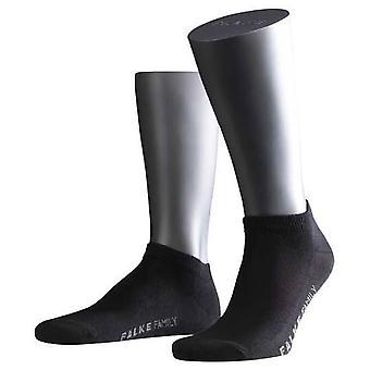 Falke Family korte Ankle sokken - zwart