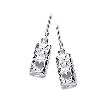 Cavendish francese cuore argento lingotti orecchini