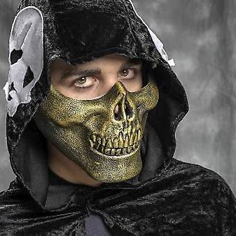 Maska lebka kostra maska Pánska lebka lebka lebka maska zlato