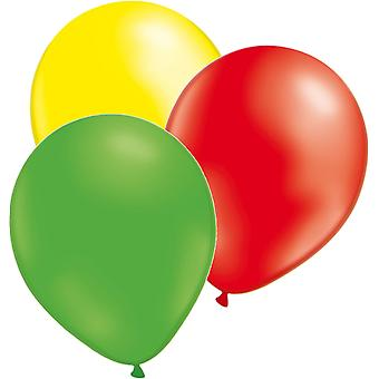 Balloons 24-Pack 3 colors yellow, green and red
