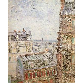 View of Paris from Vincent's Room in t he Rue Lepic