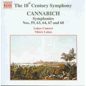 C. Cannabich - Lukas: Symphonies Nos. 59, 63, 64, 67, 68 [CD] USA import