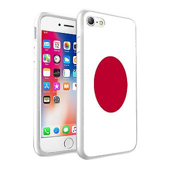 For Apple iPhone 8 Plus - Japan Flag Design Printed White Case Skin Cover - 0085 by i-Tronixs
