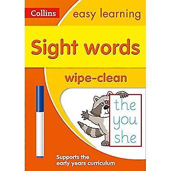 Palabras de edad 3-5 paño limpia actividad libro (Collins fácil aprendizaje preescolar) (fácil de aprendizaje preescolar de Collins)