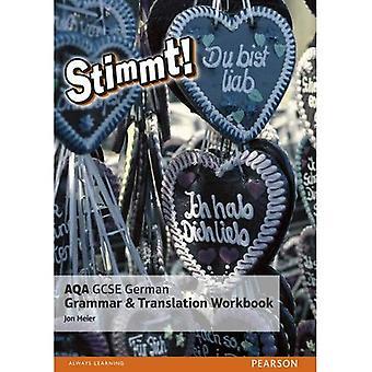 Stimmt! Grammaire allemande AQA GCSE et le classeur de traduction