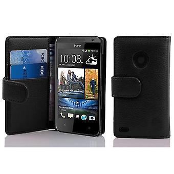 Cadorabo Hülle für HTC DESIRE 300 Case Cover - Handyhülle aus strukturiertem Kunstleder mit Standfunktion und Kartenfach – Case Cover Schutzhülle Etui Tasche Book Klapp Style