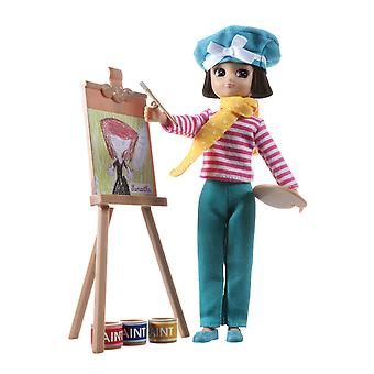 Lottie Doll Always Artsy and Easel with Outfit Set Tangle Resistant Hair