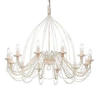 Ideal Lux - Corte antik weiß zwölf Licht Kronleuchter IDL097664