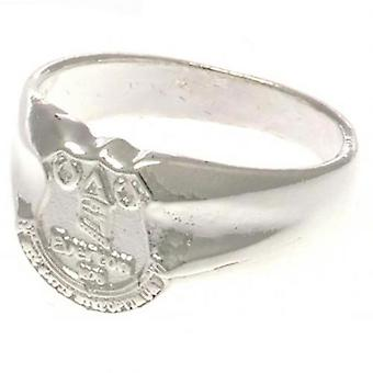 Everton Silver Plated Crest Ring Small