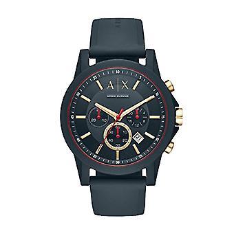 Armani Exchange Mens Quartz analog clock with Silicone strap AX1335