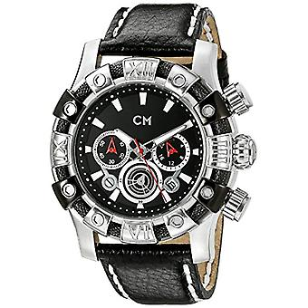 Carlo Monti CM122-122-men's wristwatch, leather, color: black