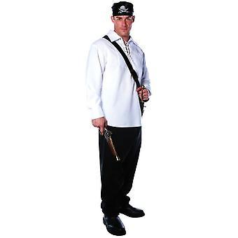 Pirate Shirt Adult White
