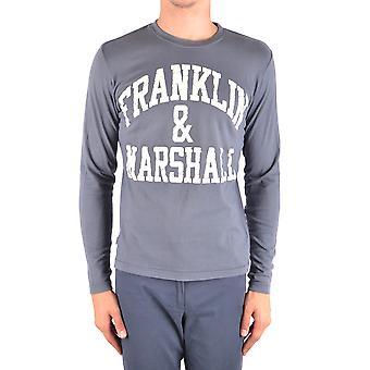 Franklin & Marshall Ezbc166001 Miehet's Harmaa puuvillapusero
