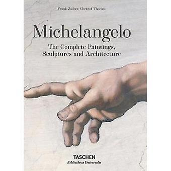 Michelangelo-de kompletta målningar-skulpturer och arkitektur av