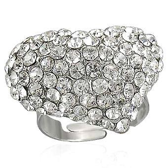 Duidelijk Diamante hart ring