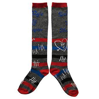 Harley Quinn Daddy's Lil Monster Knee High Socks